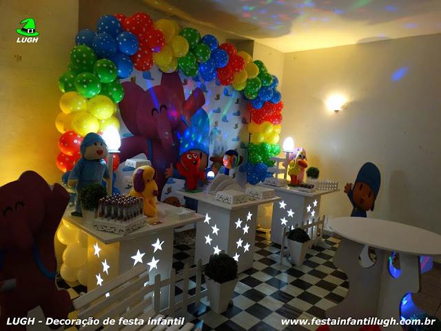Mesa decorativa tema Pocoyo - Festa infantil