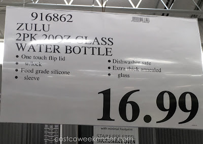 Deal for the Zulu High Performance Glass Water Bottles at Costco