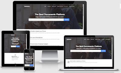 Manual Online Docs Responsive Blogger Templates