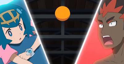 Pokémon Sol y Luna Ultra Aventuras Capitulo 23 Temporada 21 Remate en el esquema
