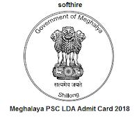 Meghalaya PSC LDA Admit Card