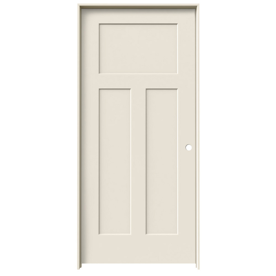 Lowes three panel craftsman style door