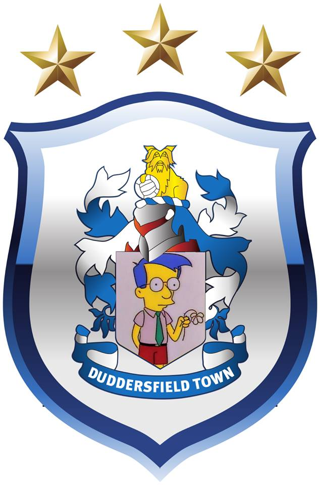 The Simpsons' version logo of Huddersfield