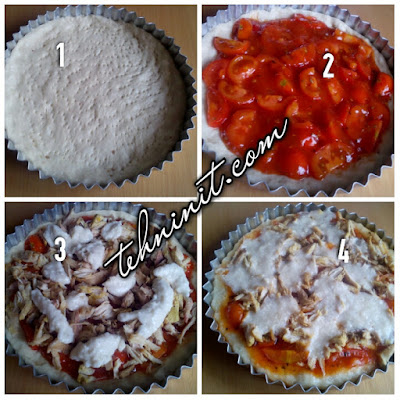 Pizza Kukus Topping Ayam Asam Manis