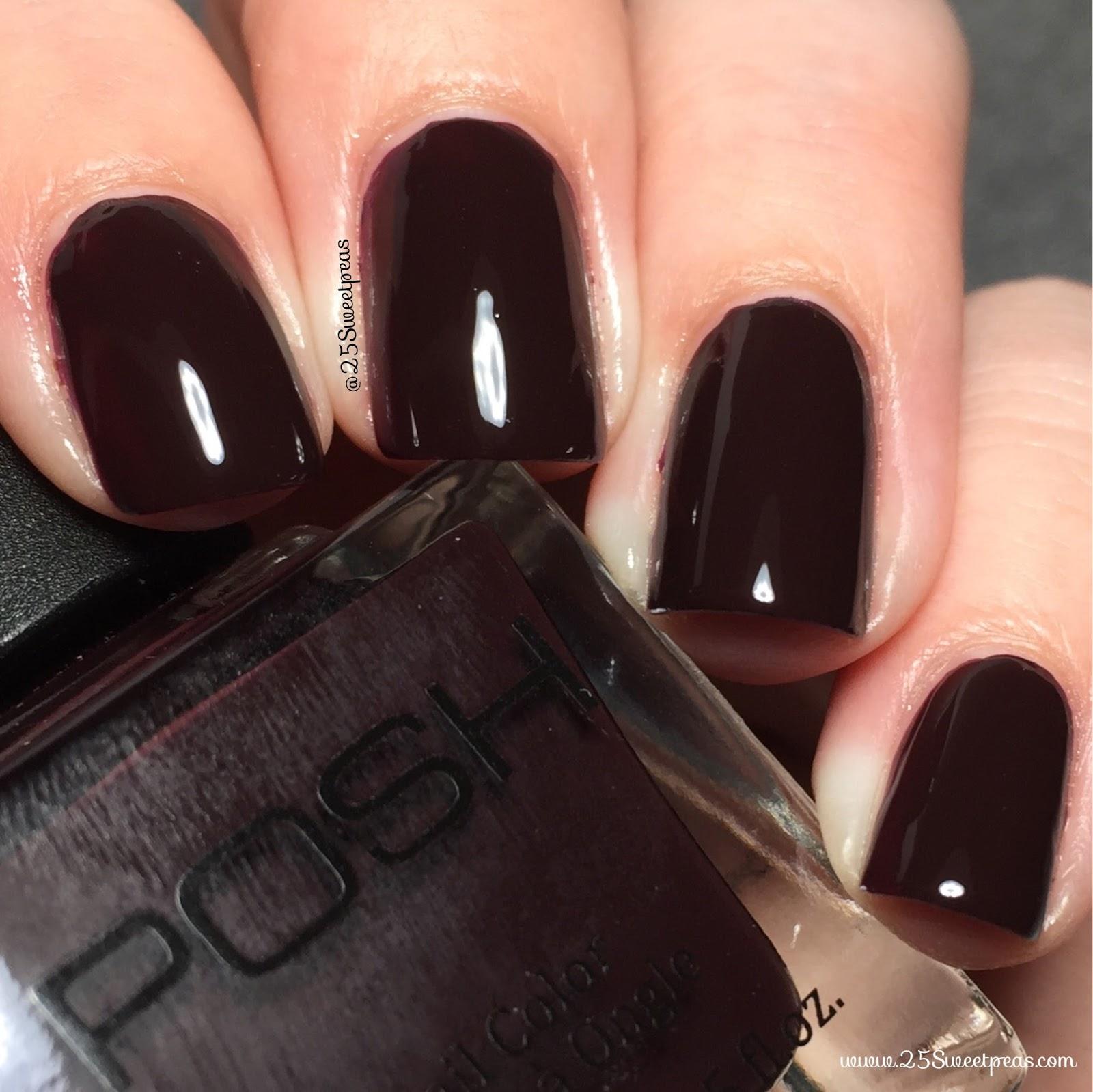 Posh Nail Color | Wine a Bit - 25 Sweetpeas