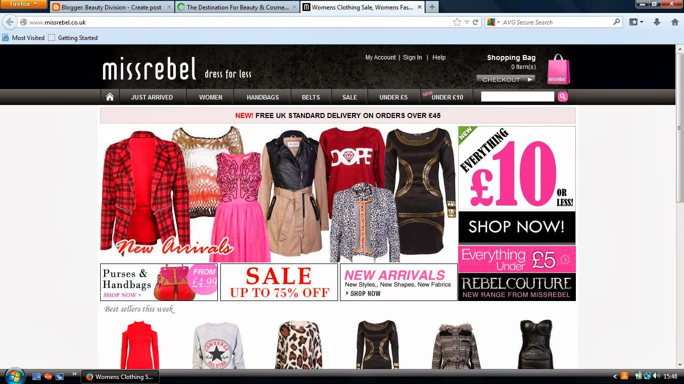 Miss Rebel Website