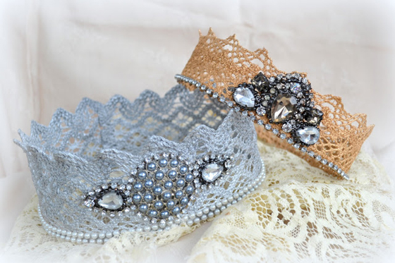 How to make a birthday crown with lace