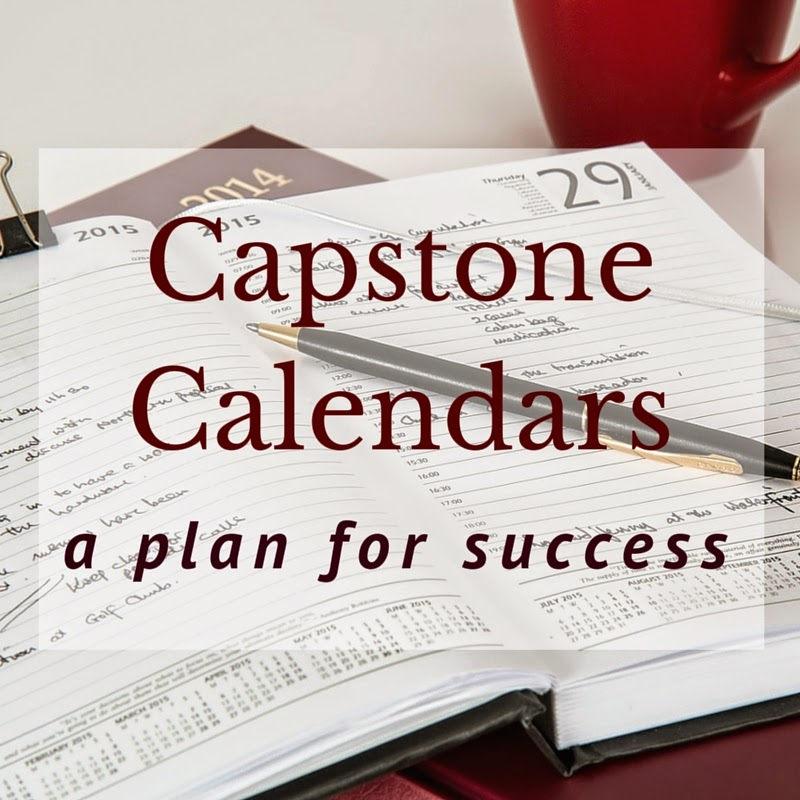 Capstone calendars: A plan for success