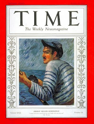 Waldo Peirce Time Cover Painting of Ernest Hemingway