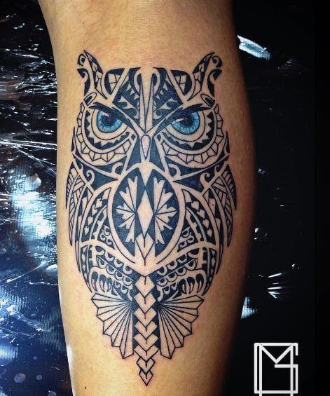 Maori Owl Tattoo Designs