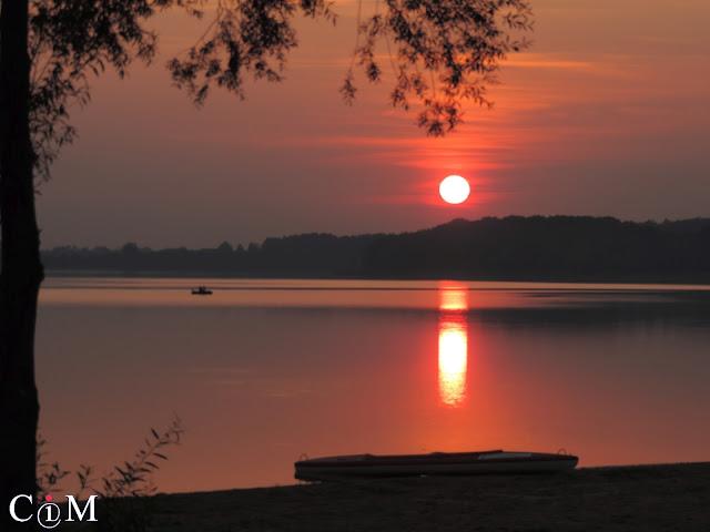 Polska, lato, zachód słońca