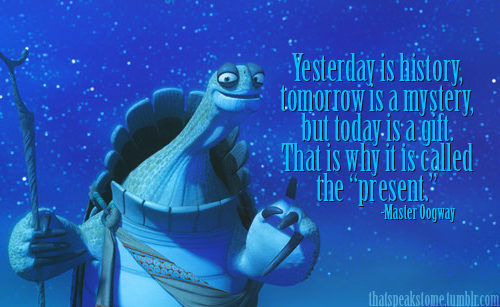 Kung Fu Panda Oogway Quotes: Flower Cake