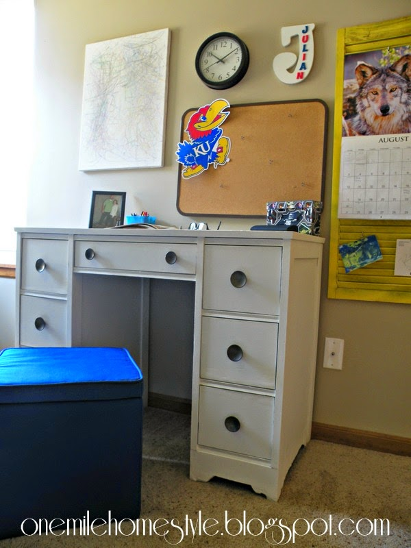 Refinished Kid's Desk -Kid's study space