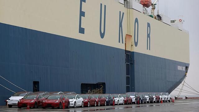 China bloquea 1.600 vehículos Model 3 de Tesla en el puerto de Shanghái por etiquetado incorrecto
