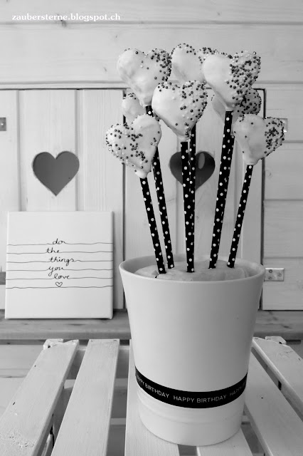 cakepops schwarz weiss, do the things you love
