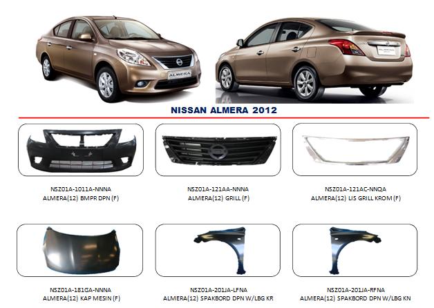 Bemper Nissan Almera 2012