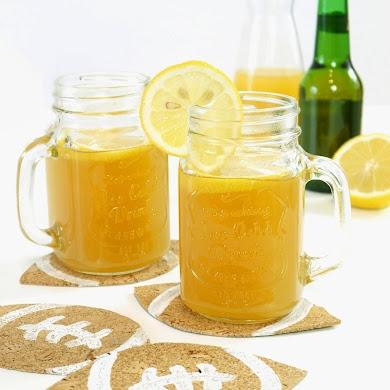Cocktail Fruité à la Bière & Dessous de Verre DIY