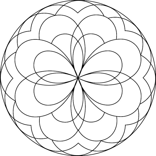 Mandala Coloring Pages For Kids With
