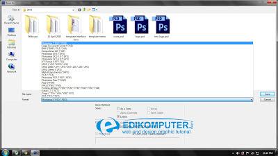 Cara Menyimpan File desain photoshop
