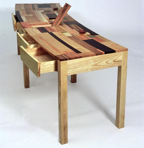 Sensacional mesa de madera artesanal