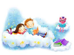 Gambar kartun sedang membaca