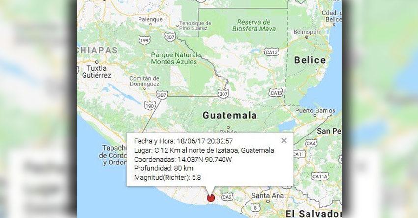 TERREMOTO EN GUATEMALA de magnitud 5.8 (Hoy Domingo 17 Junio 2018) Sismo Temblor EPICENTRO - Izatapa - En Vivo Twitter - Facebook - www.insivumeh.gob.gt