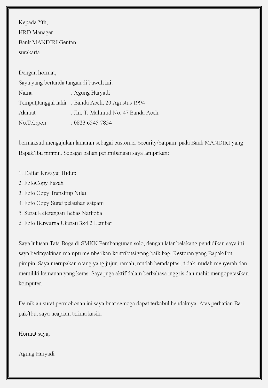 Surat Lamaran Kerja Satpam : surat, lamaran, kerja, satpam, Contoh, Surat, Lamaran, Satpam, Kumpulan, Gambar