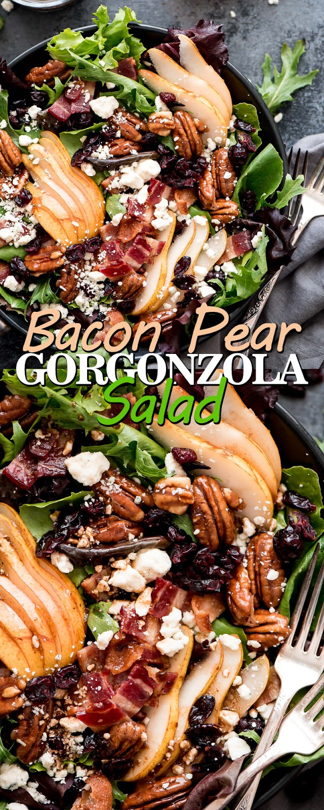BACON PEAR GORGONZOLA SALAD