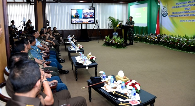 TNI dan Kejagung RI Kerja Sama Peningkatan SDM dan Kinerja