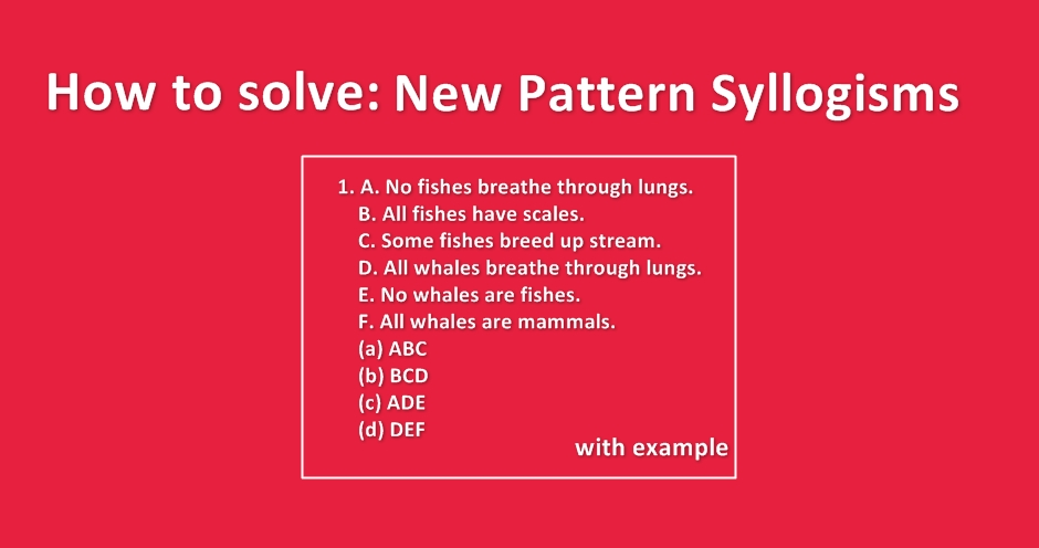 How To Solve New Pattern Syllogisms With Examples Exampundit In