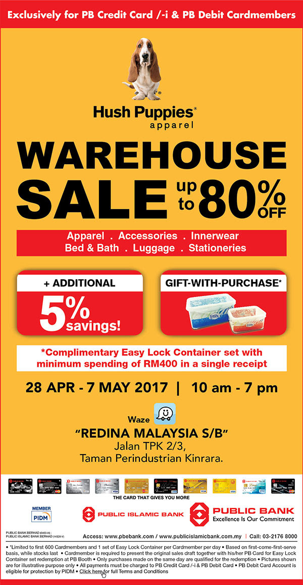 Hush Puppies Apparel warehouse sale 2017   Puchong  b998cb6cb8