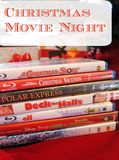 Christmas Movie Night ideas at FizzyParty.com