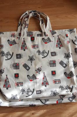 DIY Reusable Christmas Gift Bags