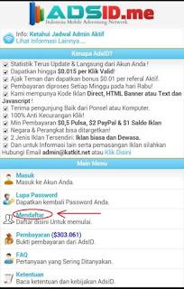adsid 1mjma Cara mendapatkan Pulsa gratis dari Internet dengan AdsID.me