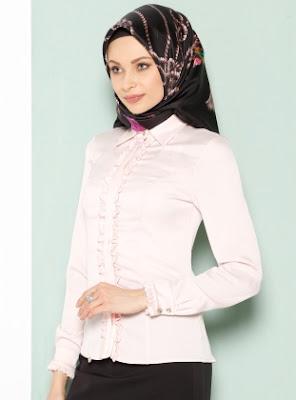 Blouse Modern Busana Kantor Wanita muslimah Masa kini Terbaru 2016
