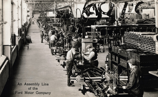 Một xưởng sản xuất của nhà máy sản xuất xe hơi Ford
