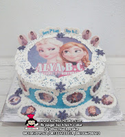 Disney Frozen Birthday Cake with Edible Image Printing