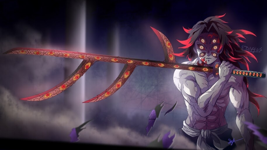 Kokushibo, Sword, Upper Moon One, Kimetsu no Yaiba, 4K, #7.187