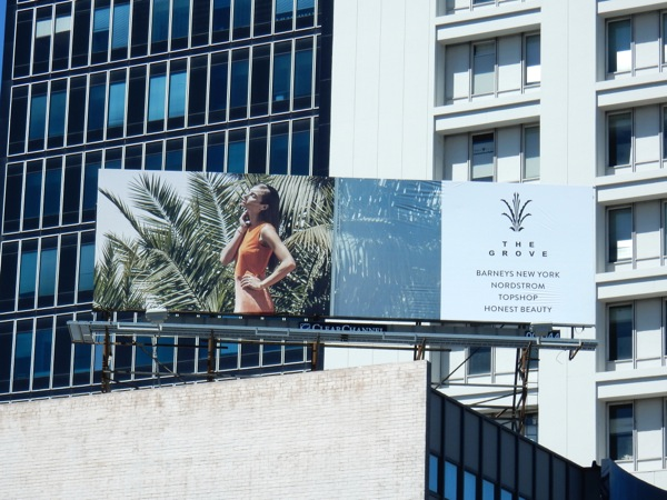 The Grove LA womenswear billboard