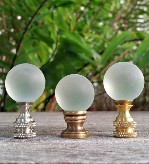 Frosted Glass Lamp Finials