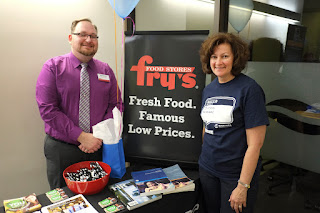 Fry's Food Stores information table and staff