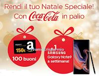 Logo Concorso ''Festeggia il Natale con Coca-Cola e My Chef'': vinci 100 buoni Amazon da 150€ e 8 Smartphone