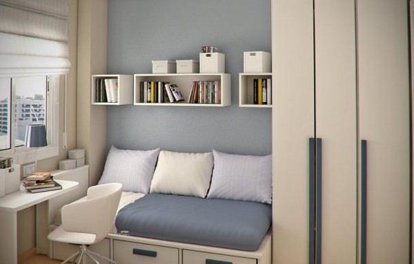 merancang desain kamar tidur berukuran kecil rancangan