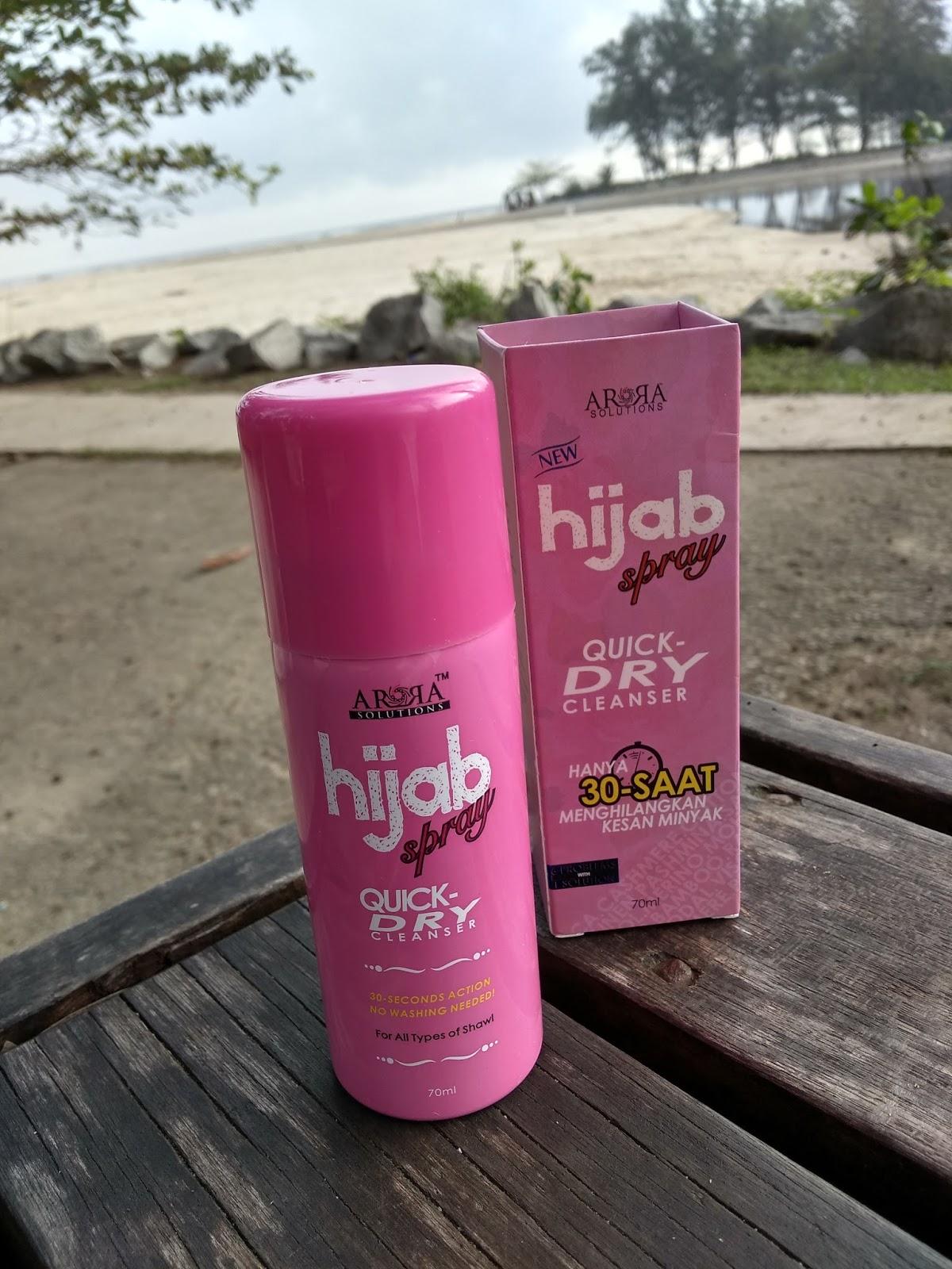 Hijab Spray Arora - Hijab bebas kotoran dalam 30 Saat!