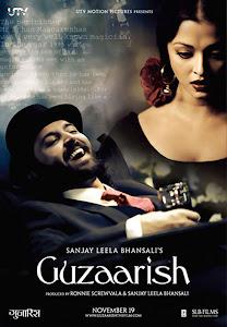 Poster Of Bollywood Movie Guzaarish (2010) 300MB Compressed Small Size Pc Movie Free Download worldfree4u.com