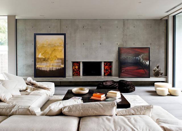 diseño de interior con pintura contemporánea de Pablo Foruria, Ben Yessef y escultura de Ramón Conde