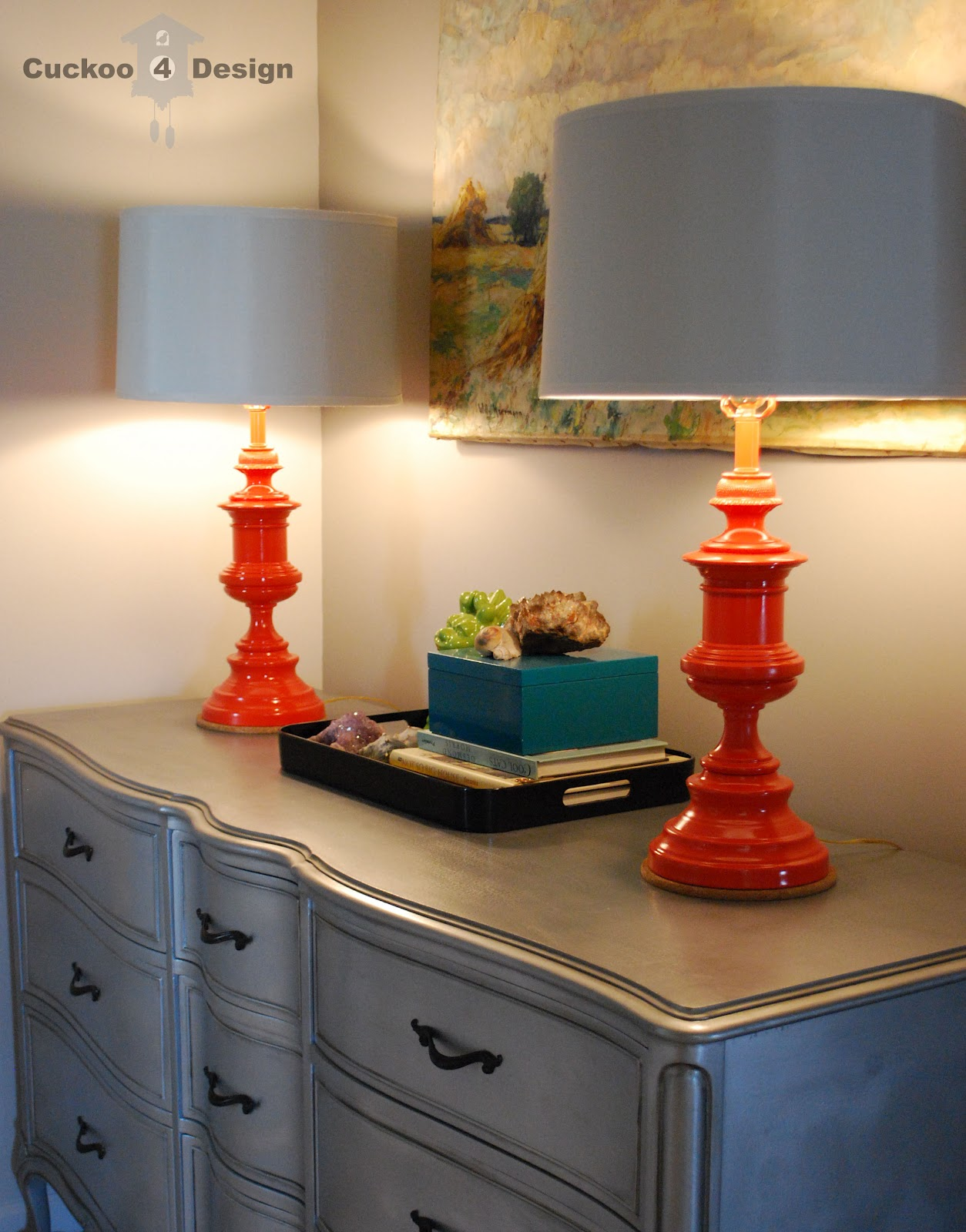 Painting Ugly Lamps Cuckoo4design