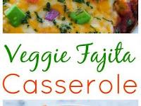 Best Veggie Fajita Quinoa Casserole