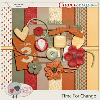 Ginger Scraps October 2018 Mini Kit Challenge and Freebie