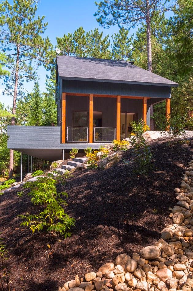 Desain Rumah Modern Minimalis di Lahan Miring